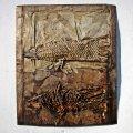 Brunivo buttarelli celacanto ieri e oggi   2011   iron, paper   cm 100 x 82-2
